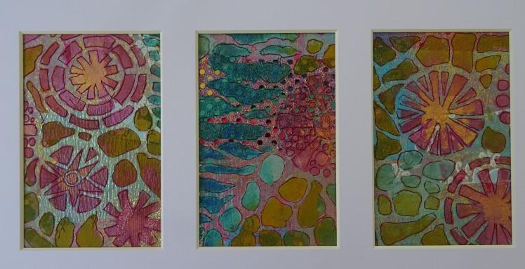 mosaic triptych